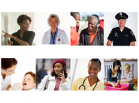 Photo of diverse professions