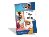Cover of the Youth Bill of Rights: images of children and youth painting, reading, taking photos, and relaxing.