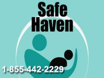 Safe Haven logo with phone number 1-855-442-2229